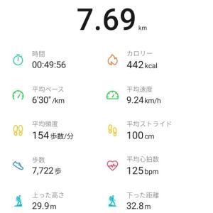 7km夕方ラン(R2.6.23)