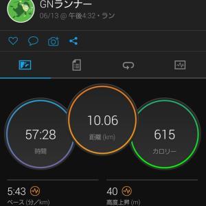 夕方11kmラン(R3.6.13)