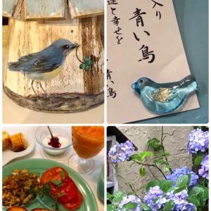 金運と幸せの御守り〜青い鳥 * ペイントの青い鳥