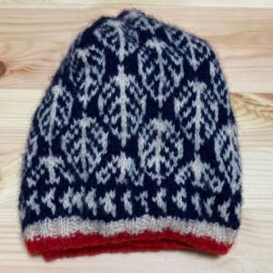 フェアアイル 葉っぱのベレー帽