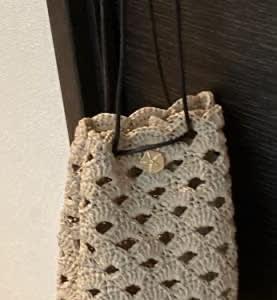 ビヨンドザリーフ リーフィー松編み巾着バッグ