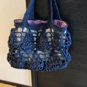 花束模様のバッグ 基本作品