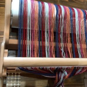 手織りレッスン ウールペニーのストール