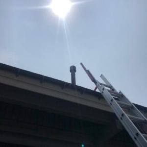 ギラギラ太陽 煙突掃除からのカーフェリー