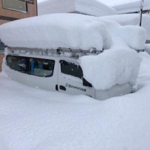 市街地で積雪244cm