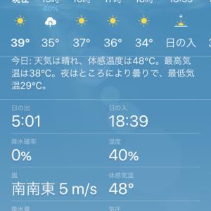 体感気温48度