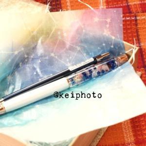 +悪い気がたくさんこもったハーバリウムボールペン+
