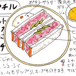 シヤチル(名古屋市千種区)・ソルトビーフサンドイッチ
