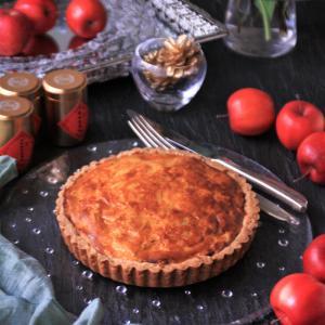 秋の味覚を楽しんで!スイートポテトとりんごのタルト