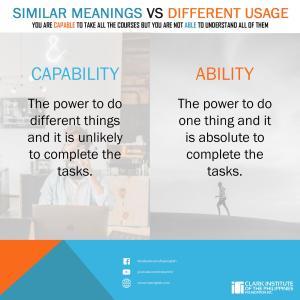 capabilityとpossibilityの違い