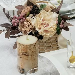 エミココテーブルコーディネート☆秋を楽しむテーブルでランチタイムね✨