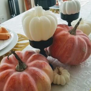 エミココテーブルコーディネート☆カボチャゴロゴロ。。ハロウィンに向けて~✨