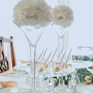 エミココキッチン6日目☆クリスタル&ホワイトのコーディネートでお迎えね