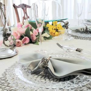 エミココフラワー&ランチレッスン4月☆テーブルコーディネートは爽やかに春のおもてなしで
