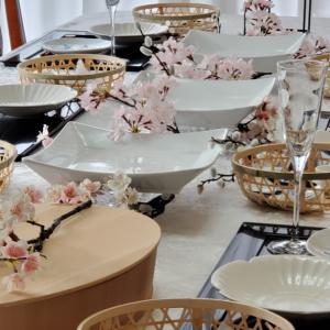 エミココキッチン3月☆5回目~桜の舞うテーブルで&おうち飲みスタート