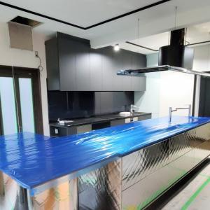 エミココキッチンリフォーム工事☆アイランドキッチンの設置@東洋キッチンキルトをね