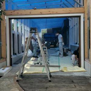 エミココガレージハウス☆素敵なスライディングドアが、完成しました