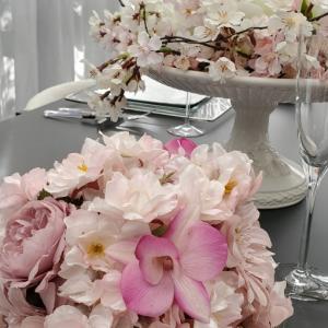 エミココテーブルコーディネート☆春の装い。。桜が満開に。。