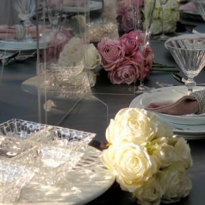 エミココフラワー&ランチレッスン☆モノトーンに差し色ピンクで&おうちご飯は洋食で