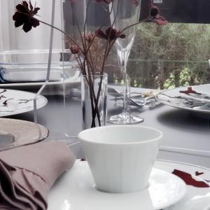 エミココキッチン9月後半スタート☆秋のテーブルで☆チョコレートコスモスもあしらって