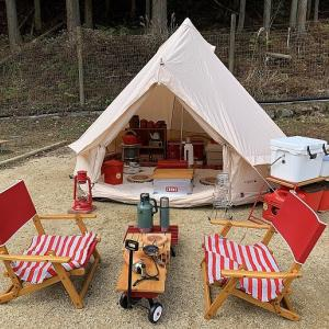 我が家の冬キャンプのレイアウト&装備は超完璧!詳しくブログで紹介。
