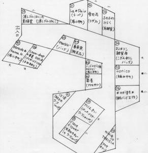 第37回クローバー手作り市 出展配置図です。