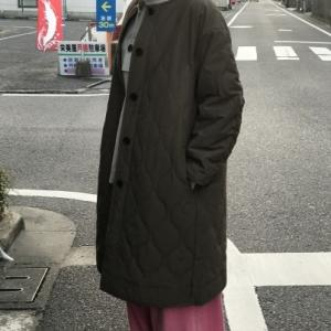 キルティングコート。