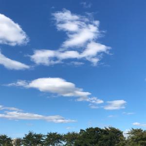 台風の後の青空。