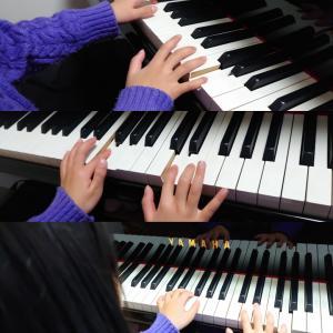 ピアノの音の高低からイメージしたよ