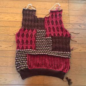 ゴム編みを付けました