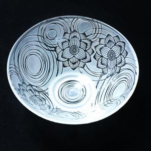 ガラス茶器 と ゆるい小皿