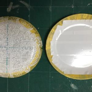 小さな楕円皿_4 サンドブラスト〜完成