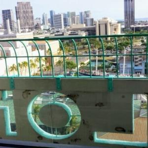 海外旅行☆ALOHA TOWER☆展望台から☆動画有り