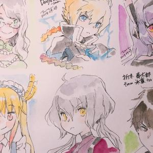 Art raffles and simple doodles for 10 sub gifters 2019.09.08