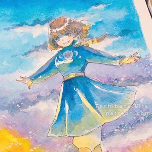 Nausicaa commission watercolor art for Zuvi-san