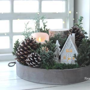 静かな森のジオラマ風〜クリスマスアレンジ