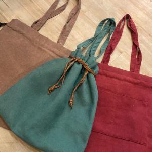 【NEW】コーデュロイ巾着Bag