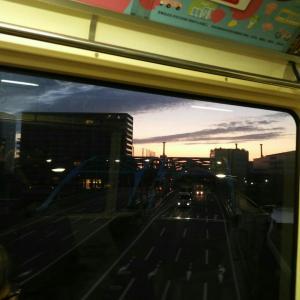 仙台へバス移動中