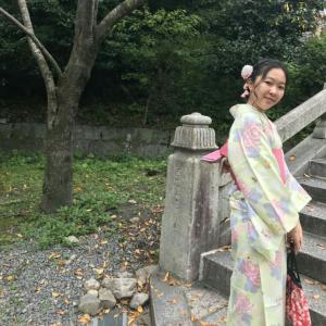 京都到着、まずは着物から!