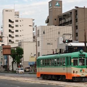 とさでん交通路面電車 宝永町~デンテツターミナルビル前