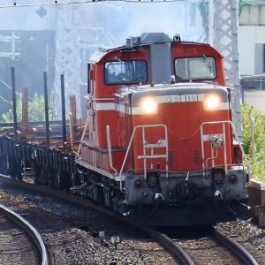DD51-1191+チキ2両・鷹取工臨返却(2021.7.22)