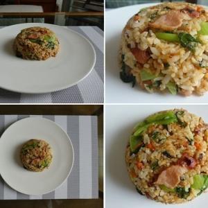 男の料理~我が家の昼ごはんは、お酢でさっぱり納豆チャーハン~