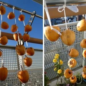 我が家の干し柿16個