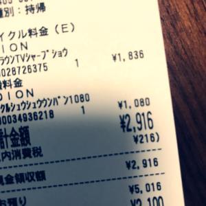 昔のテレビを3000円払って断捨離…