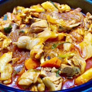 鶏の煮込み&キムチ
