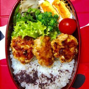 鶏のつくね丼★(^^♪・・・・・息子弁当