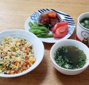 6月14日の三食ごはん+食後のデザート