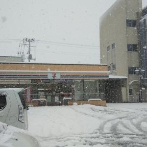 四月に積雪!