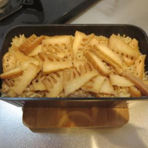 トースターパンで竹の子ごはん