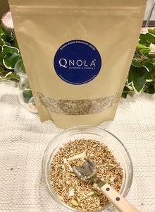 オールナチュラルにこだわったキヌア入りのグラノーラ「クノーラ」は女性に嬉しい栄養素満点、しかもグルテンフリーなので健康的にダイエットする人にオススメです。
